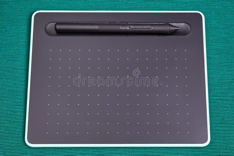 Digital Drawing Tablet For Graphic Design Stock Image Image Of Digitally Digitizer 186287101