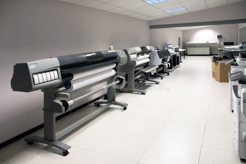 Digital-Drucken - breiter Formatdrucker lizenzfreies stockbild