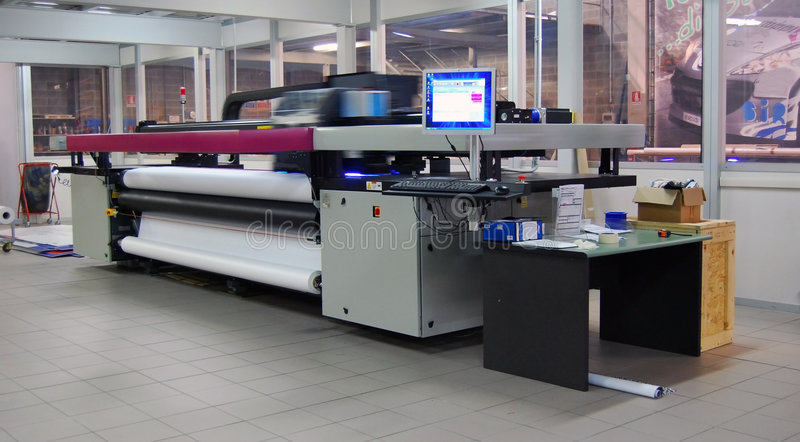 Digital-Drucken - breites Format lizenzfreies stockfoto