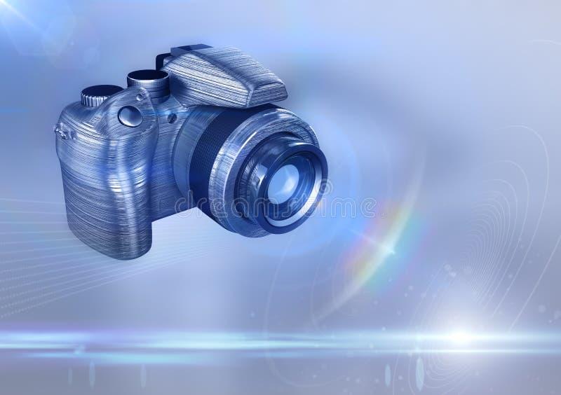 Download Digital DSLR camera stock illustration. Image of metal - 18005396