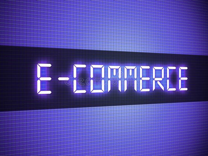 Digital E-commerce Word Stock Images
