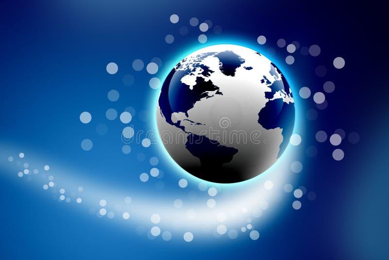 Download Digital earth stock illustration. Image of digital, telecom - 25842053