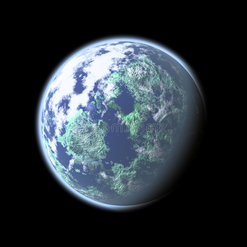 Digital Earth royalty free illustration