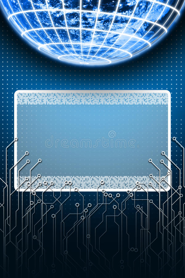 Download Digital Earth With LCD Monitor Stock Image - Image: 25397843