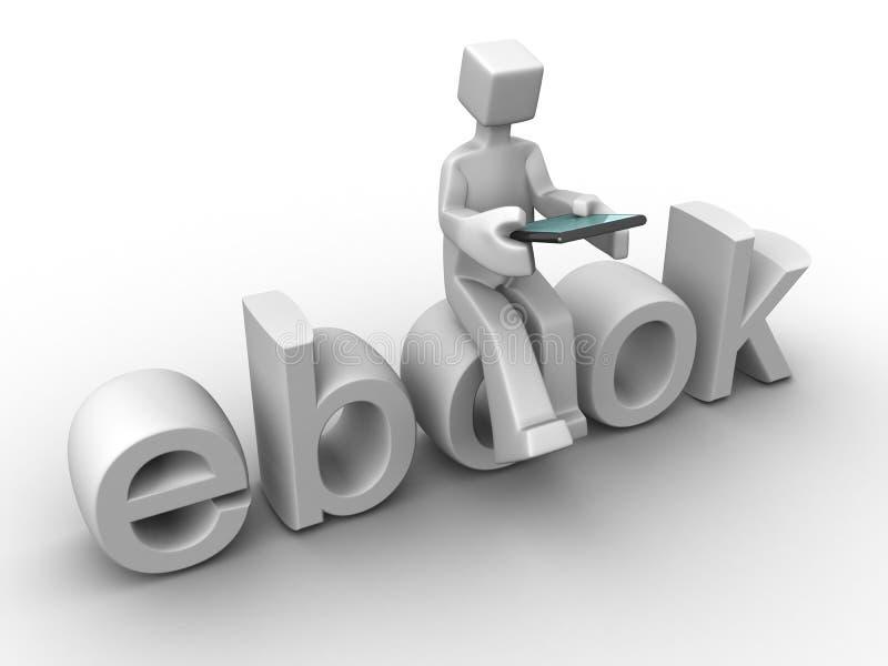 digital ebookteknologi för begrepp stock illustrationer