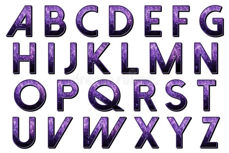 Digital-Einklebebuch-Alphabet Dolce Vita vektor abbildung
