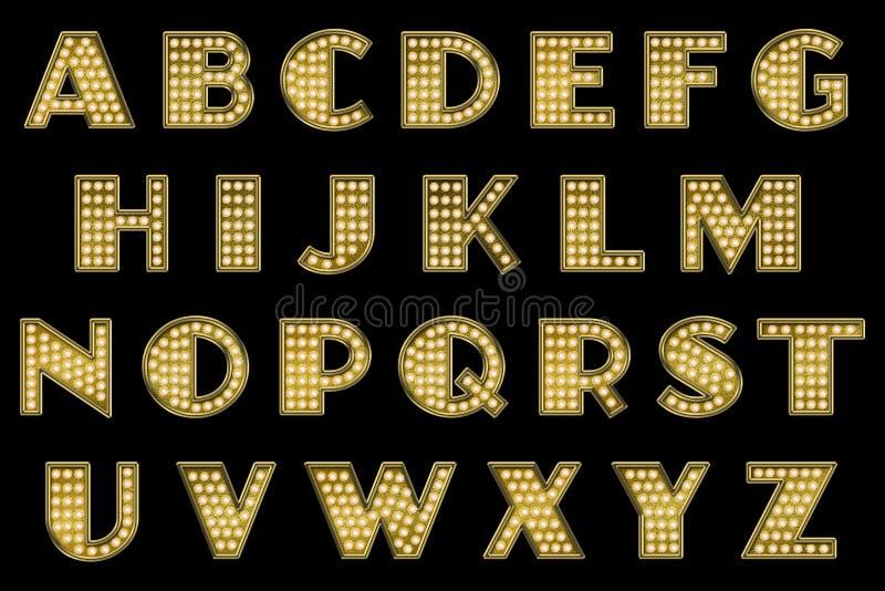 Digital-Einklebebuch-Alphabet-Varieté-Festzelt lizenzfreie stockfotografie