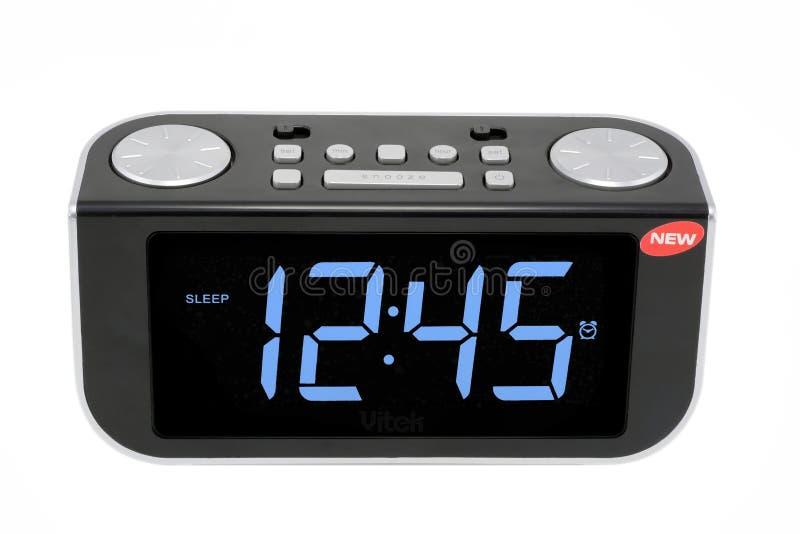 Digital electronic clock stock photos