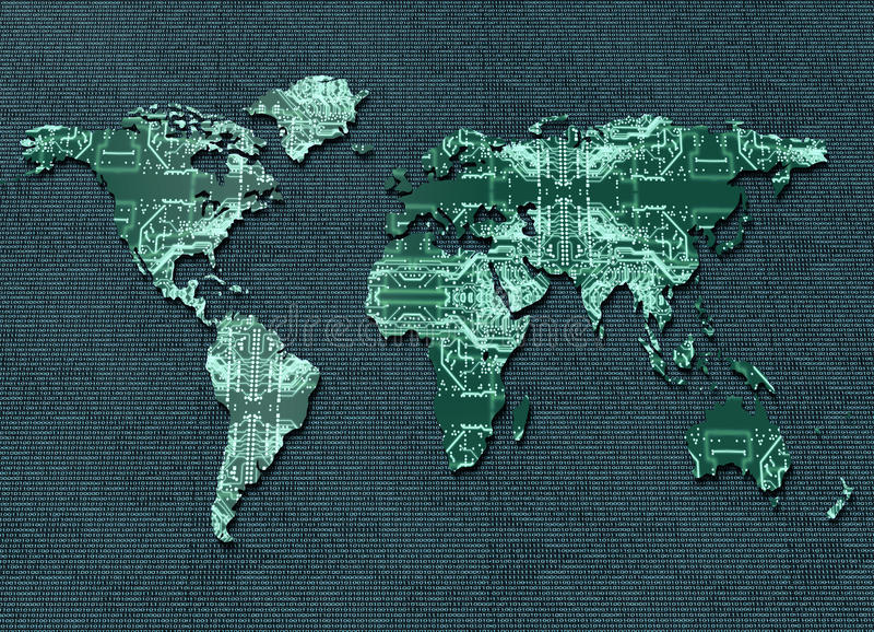 Digital electronic world map stock illustration illustration of download digital electronic world map stock illustration illustration of global continent 66829788 gumiabroncs Choice Image