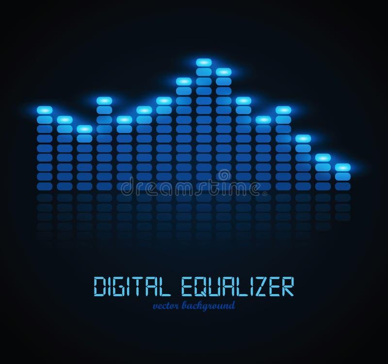Digital Equalizer. Graphic Equalizer Display. Vector illustration for your artwork vector illustration