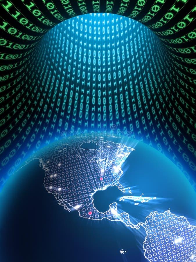 Digital-Erde lizenzfreie abbildung