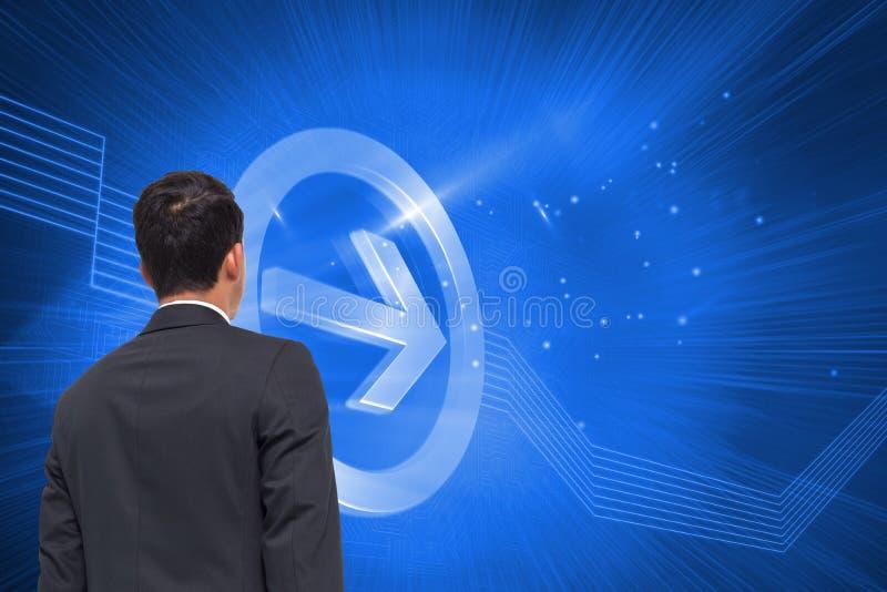 Digital erzeugter Pfeil, der rechts zeigt lizenzfreies stockbild