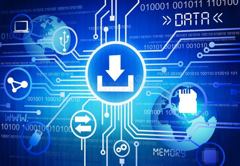 Digital erzeugtes Bild des Daten-Konzeptes vektor abbildung