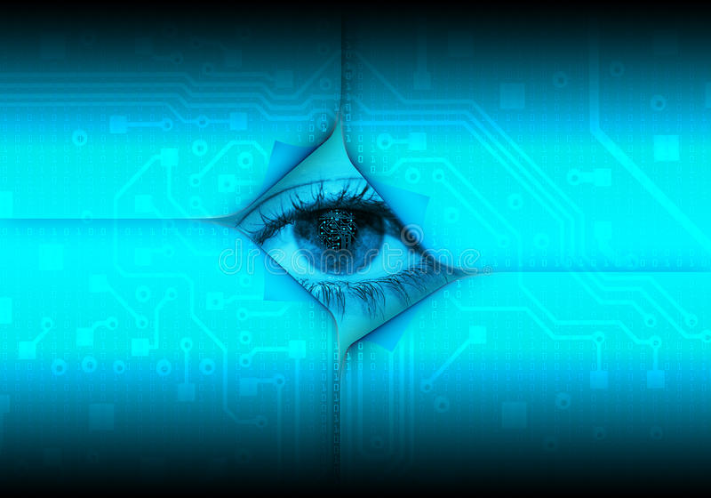 Download Digital eye stock illustration. Illustration of effects - 10515344