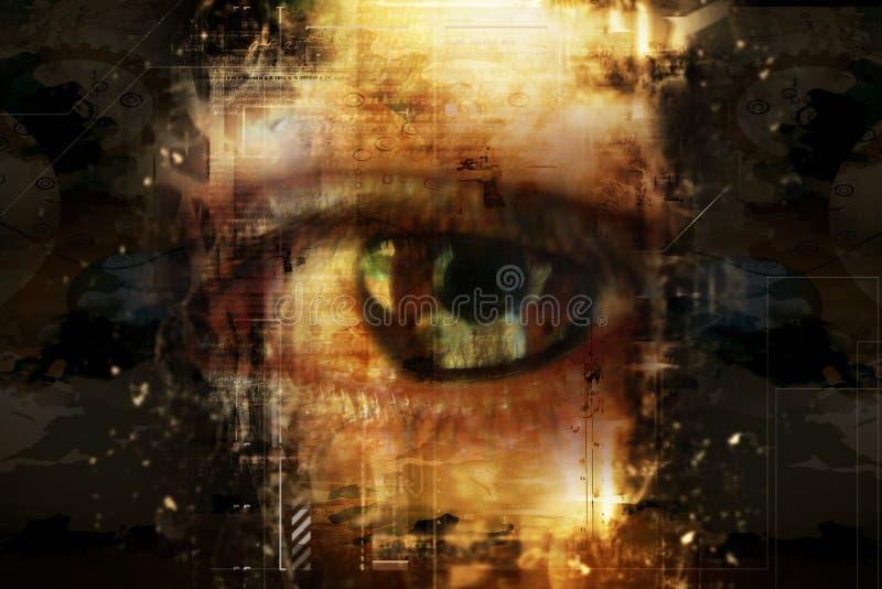 Download Digital eye stock illustration. Image of identity, access - 16187937