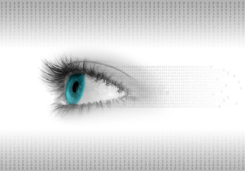 Digital eye background. The abstract digital eye background