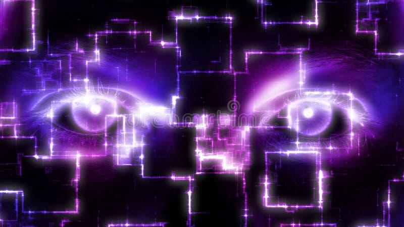 Digital Eyes. Digital abstract eyes for security design vector illustration