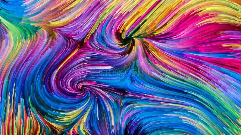 Digital färgrik målarfärg royaltyfri foto