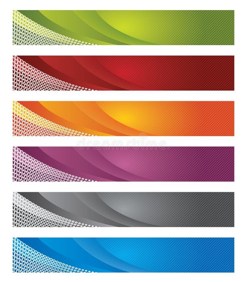 Digital-Fahnen in der Steigung und in den Zeilen vektor abbildung