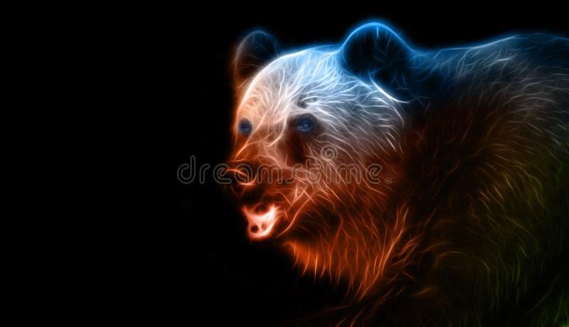 Digital-Fantasiezeichnung eines Bären lizenzfreie abbildung
