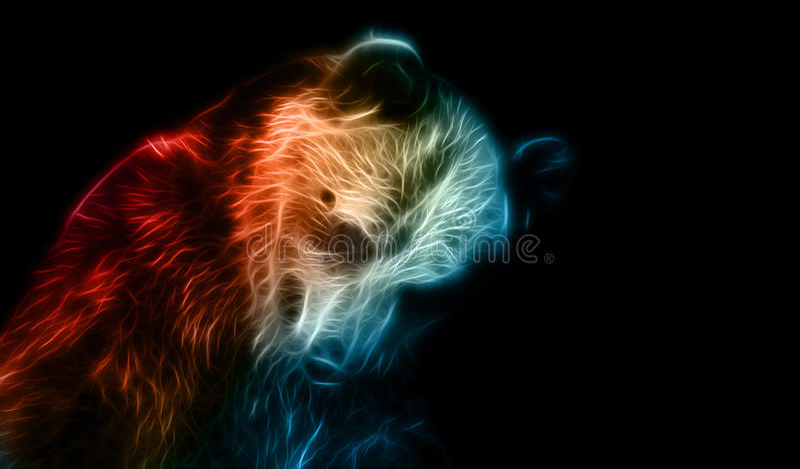 Digital-Fantasiezeichnung eines Bären stock abbildung