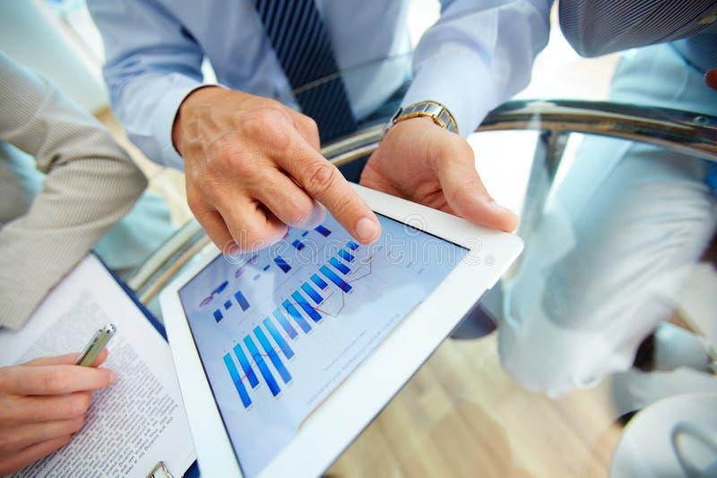 Digital financial data stock photo