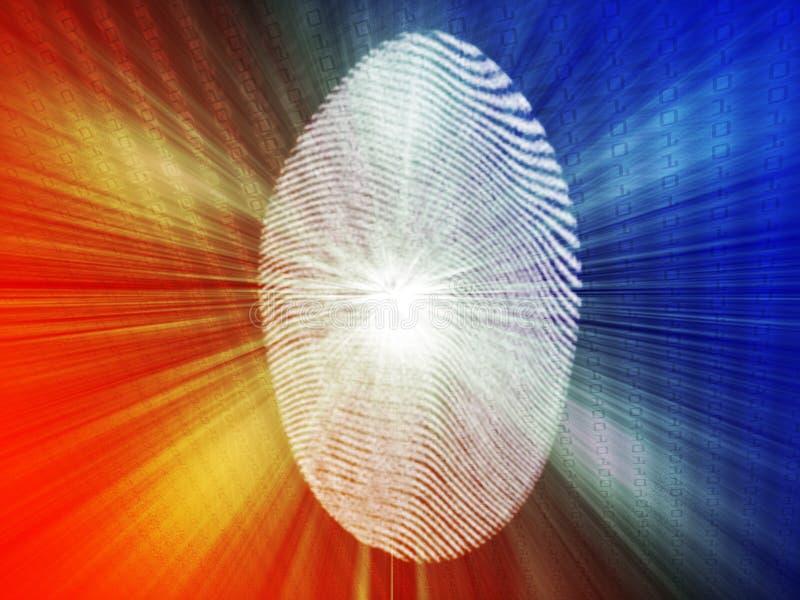 Digital-Fingerabdruck vektor abbildung