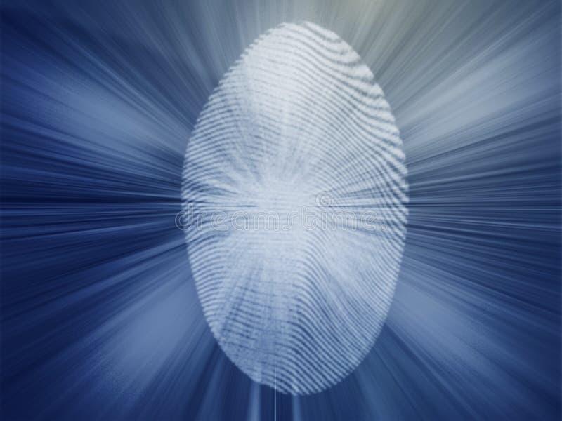 Digital-Fingerabdruck lizenzfreie abbildung