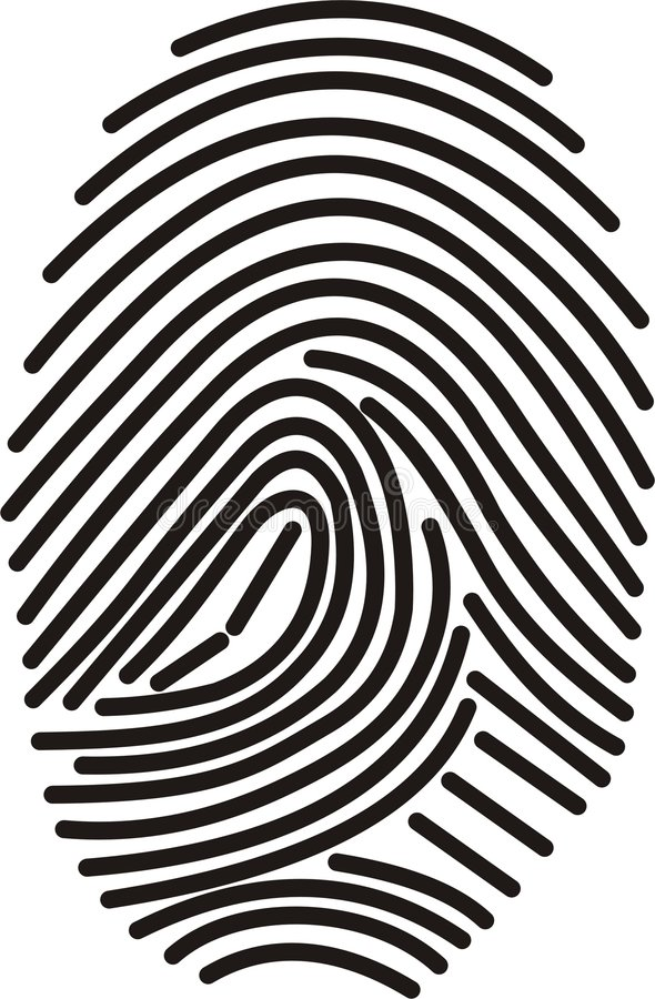 Download Digital fingerprint stock illustration. Illustration of finger - 272333