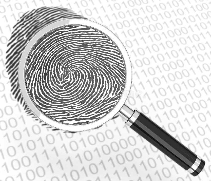 Download The digital fingerprint stock illustration. Image of theft - 43533335