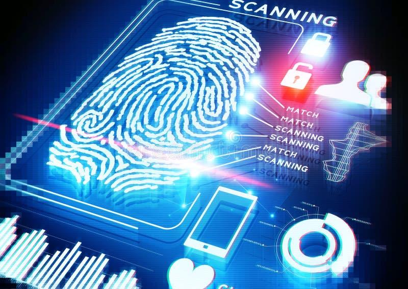 Digital Fingerprint Scanning. A Digital Fingerprint Scanning background