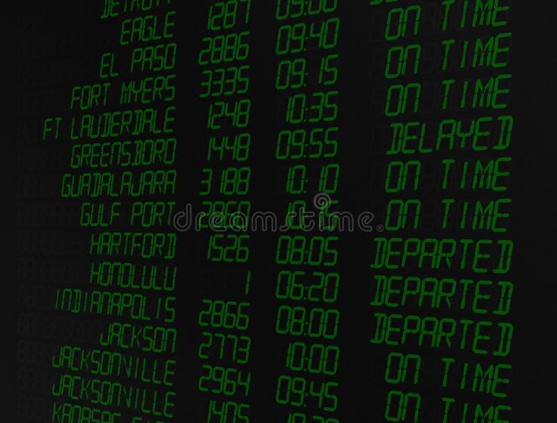 Digital Flight Screen royalty free stock image