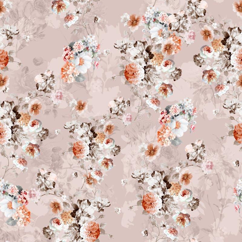 Digital print flower pattern design stock photography