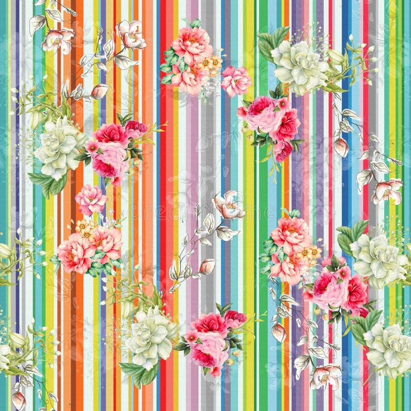 Digital print flower pattern design royalty free stock image