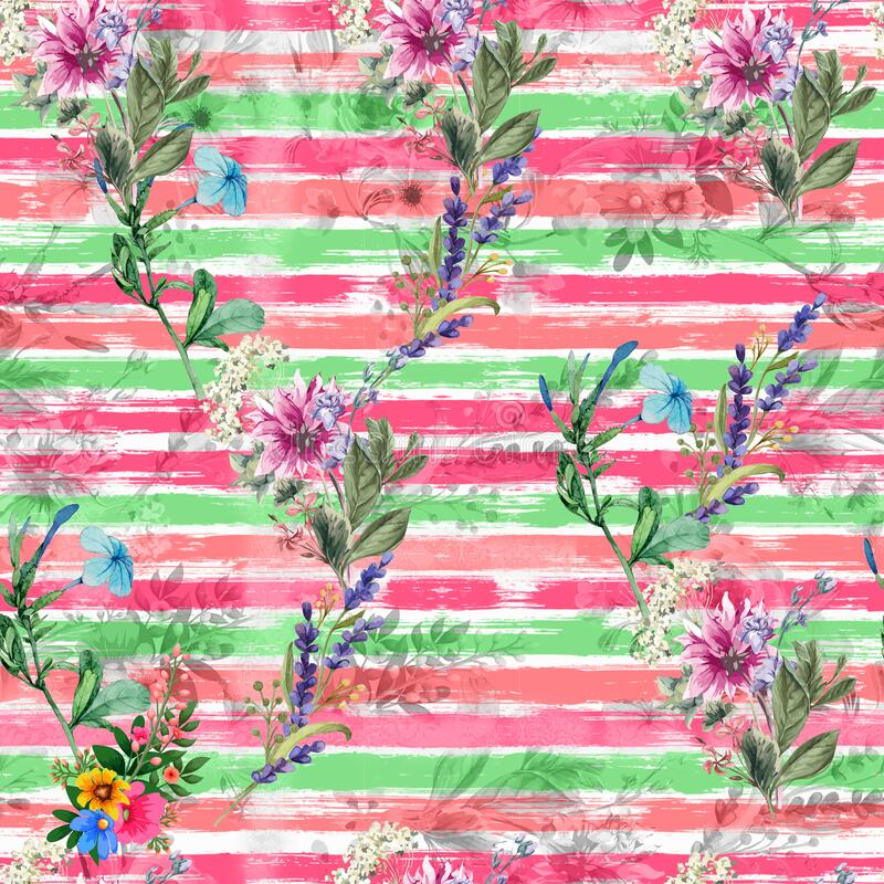 Digital print flower pattern design royalty free stock photo