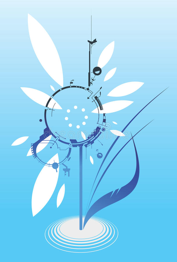 Digital Flower Royalty Free Stock Photography