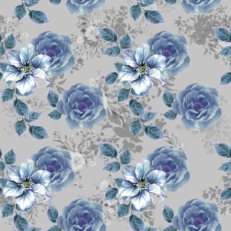 Digital flower pattern print design royalty free stock image