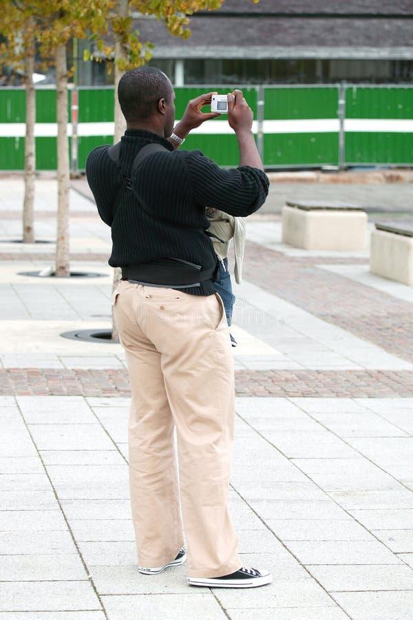 Digital-Foto-Mann Lizenzfreies Stockbild