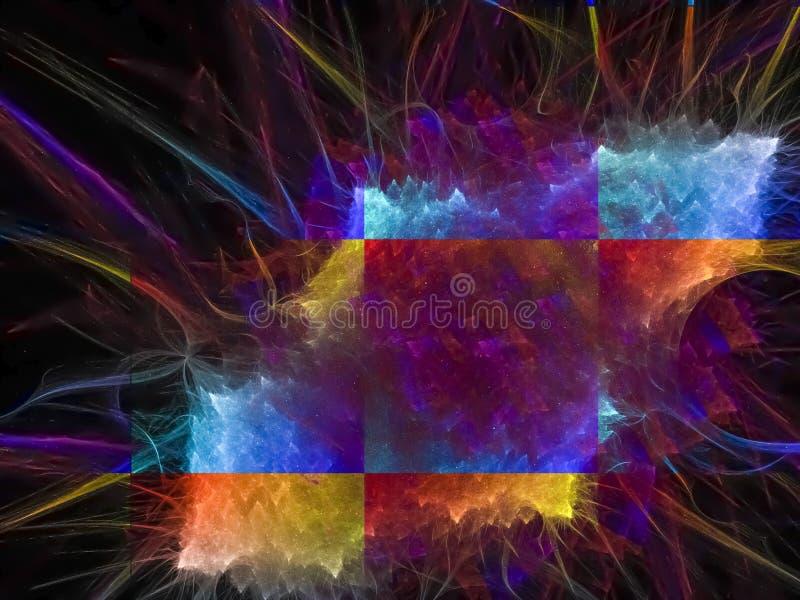 Digital fractal för abstrakt framtida för modellbegreppsvåg virvel för elegans, textur för design för mörk flamma för kurvdiskodi royaltyfri fotografi