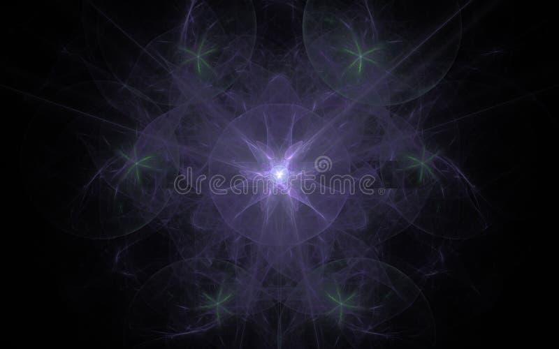 Digital frambragd bild i form av abstrakta geometriska former av olika skuggor och färger för bruk i rengöringsdukdesign och dato stock illustrationer