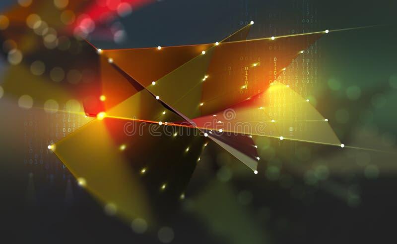 Digital framtid Genomskärning av informationsflöden Era av stora data vektor illustrationer