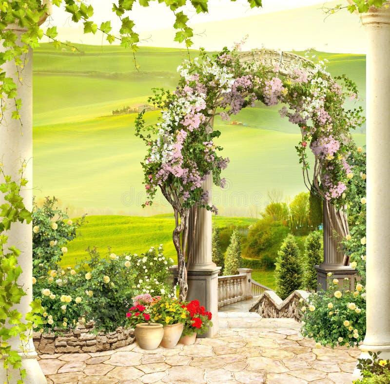 Digital freskomålning Italien sikt royaltyfri bild