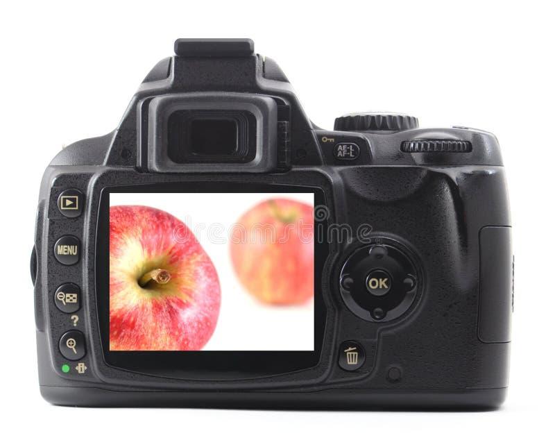 digital frukt för äpplekamera arkivfoto
