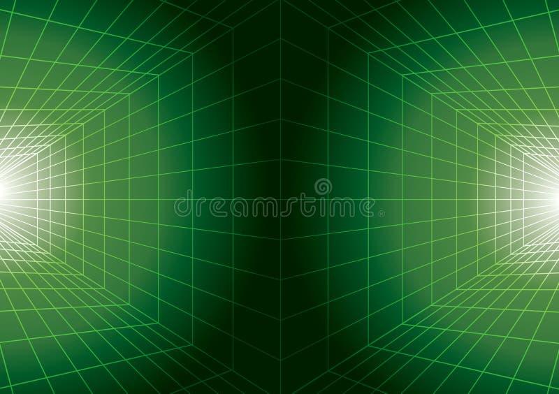 Download Digital Futuristic Green Background Stock Vector - Image: 25416484