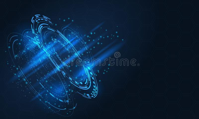 Digital futuristic user interface, HUD for app and web vector illustration