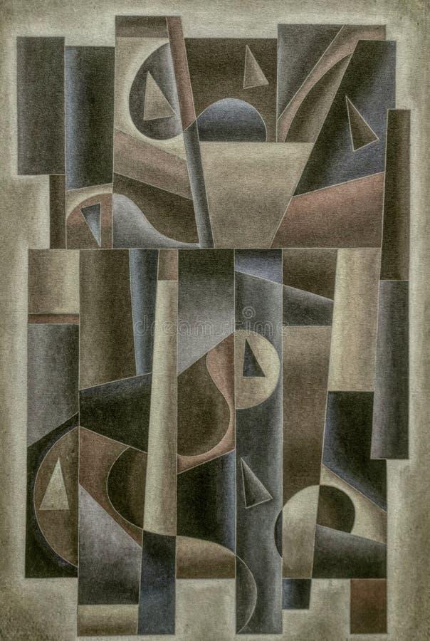 Digital géométrique Art Vintage illustration stock