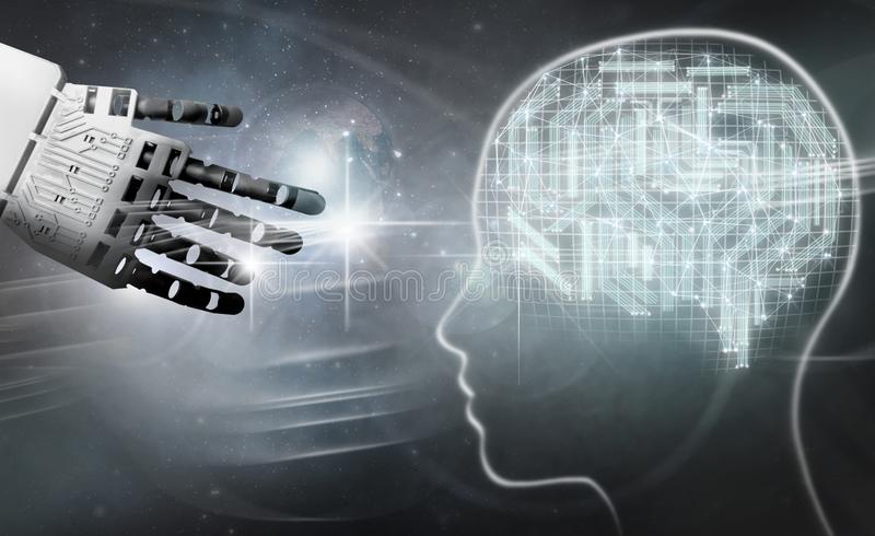 Digital-Gehirnverbindung stockfoto