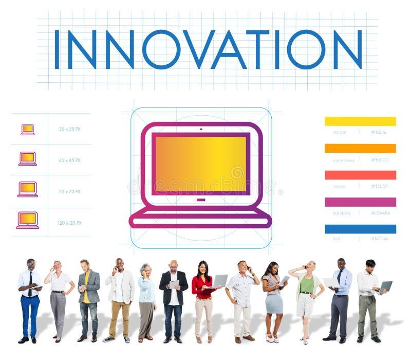 Digital-Gerät-Innovations-Multimedia-Konzept lizenzfreie stockfotos