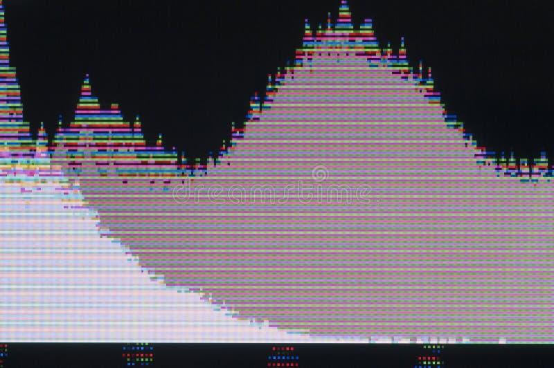 Digital glitch. Abstract background of a digital glitch royalty free illustration