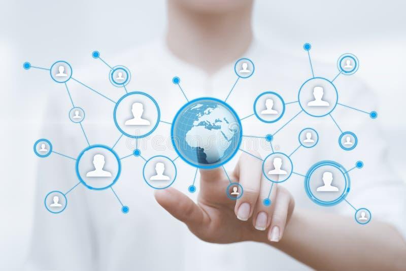 Digital globe international business network internet technology concept stock images